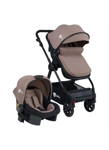 4 Baby 4 Baby Comfort Siyah Travel Sistem Bebek Arabası Gri Gri